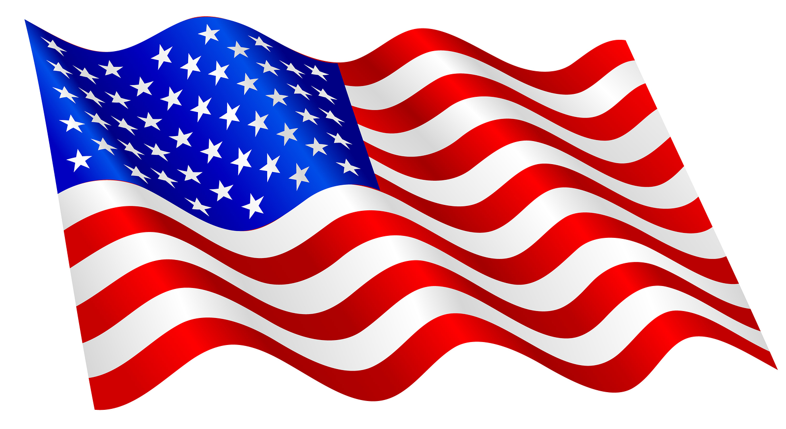 Ameican Flag Clipart - Clipart Kid