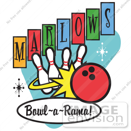 Bowling Pins And Ball Strike Clip Art Free Bowling Clipart