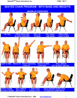 Chair Exercise Clip Art