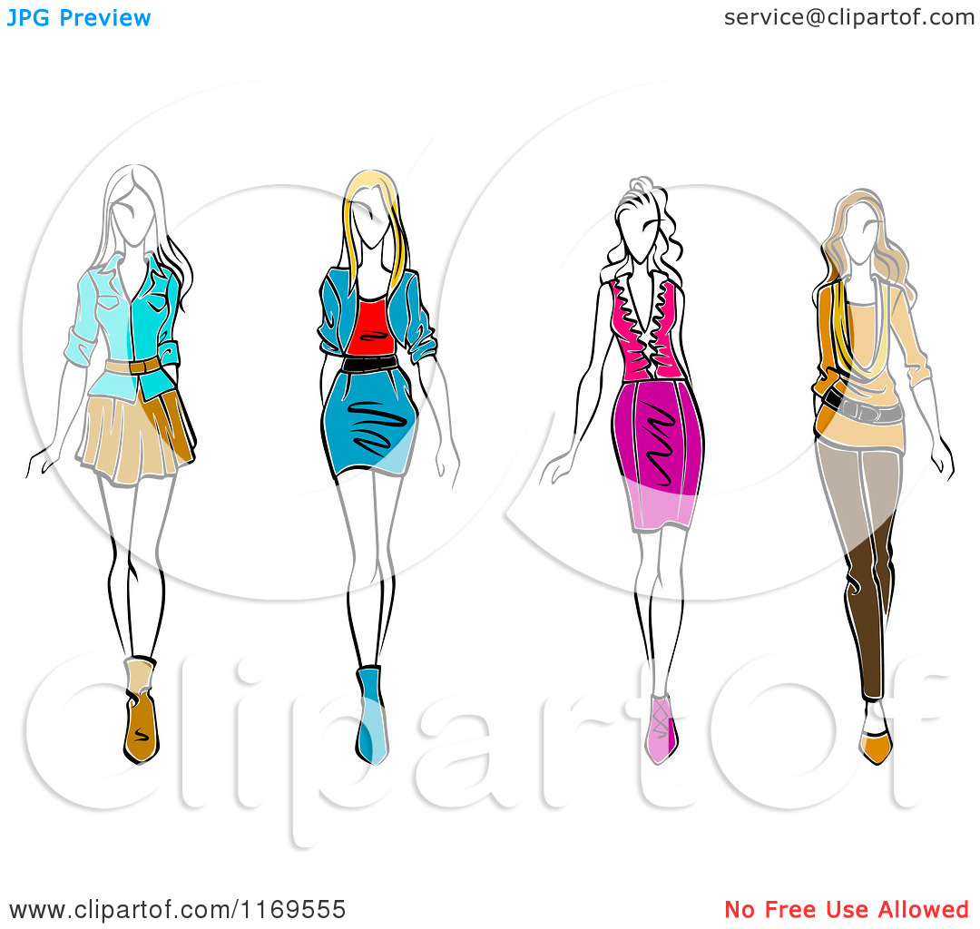 Displaying 19 Images For Runway Model Sketch #VpHX9N - Clipart Kid