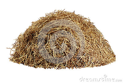 Hay Pile Isolated On A White Background As An Agriculture Farm And