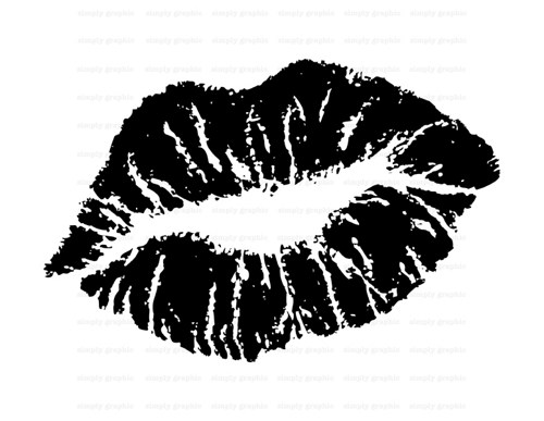Kiss Lips Clip Art Black And White