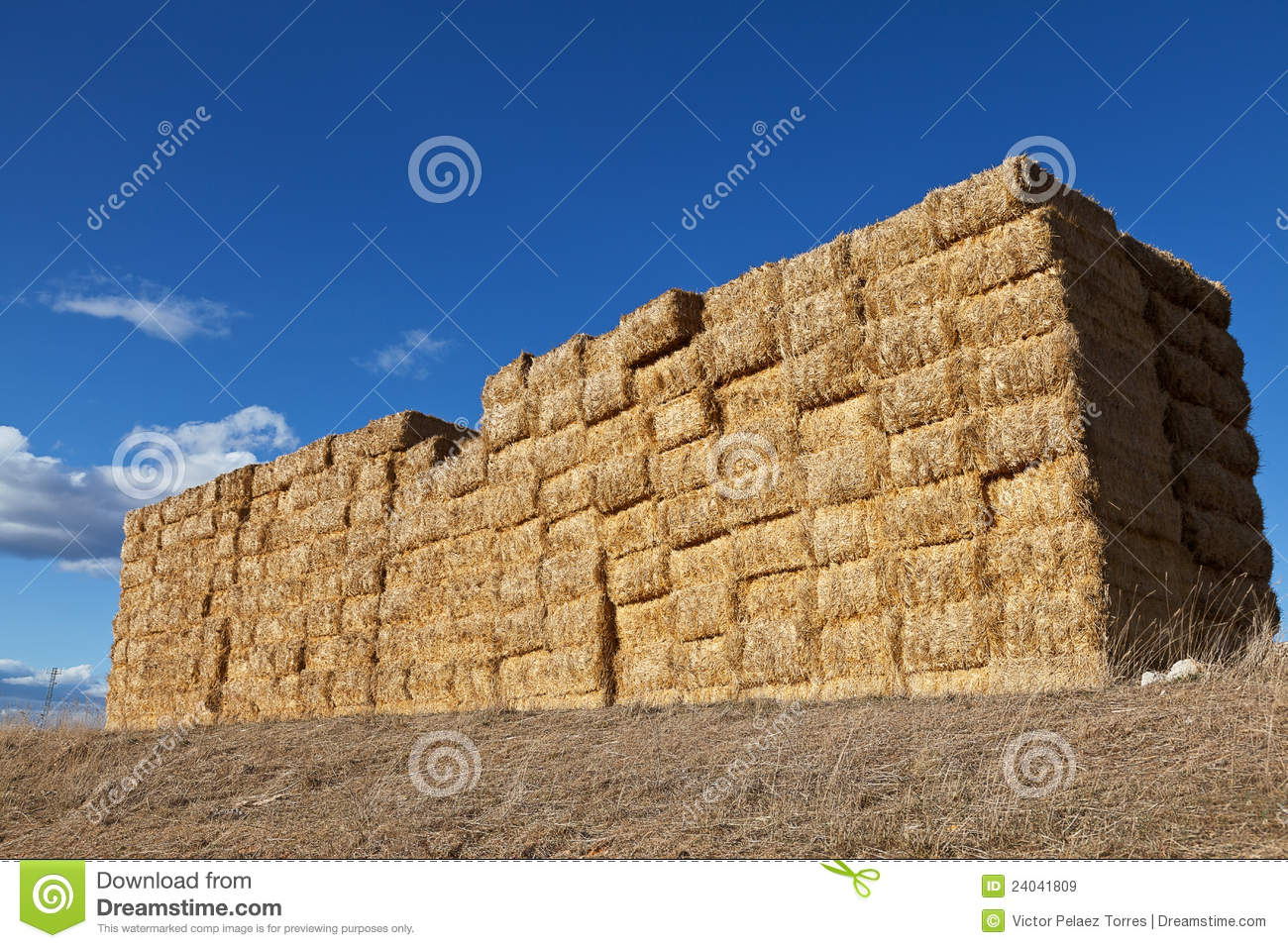 Large Pile Of Hay Bales Royalty Free Stock Images   Image  24041809