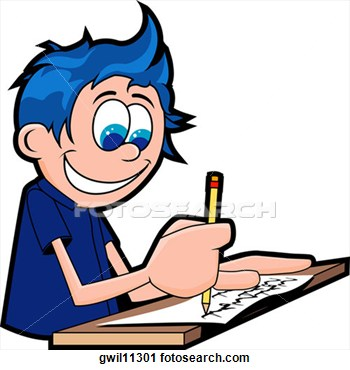 boy writing clip art - photo #9