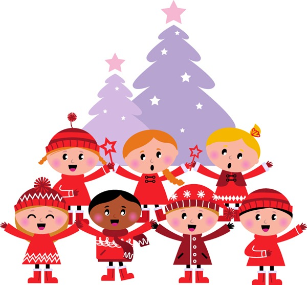 Christmas Choir Clipart - Clipart - 73.2KB