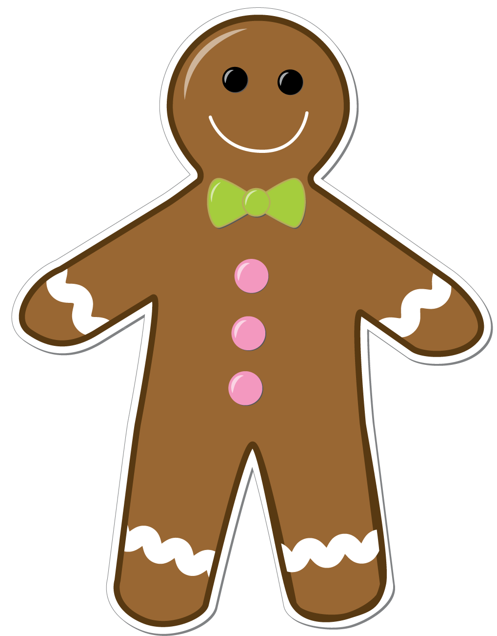 Clip Art Gingerbread Man Clip Art gingerbread man border clipart kid displaying 18 images for border