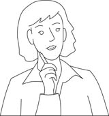 Free Black And White People Outline Clipart   Clip Art Pictures
