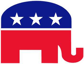 Free Patriotic Clipart Image Of The Republican Party Elephant Icon