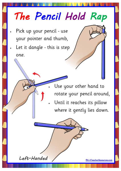 Free Pencil Hold Rhyme Poster