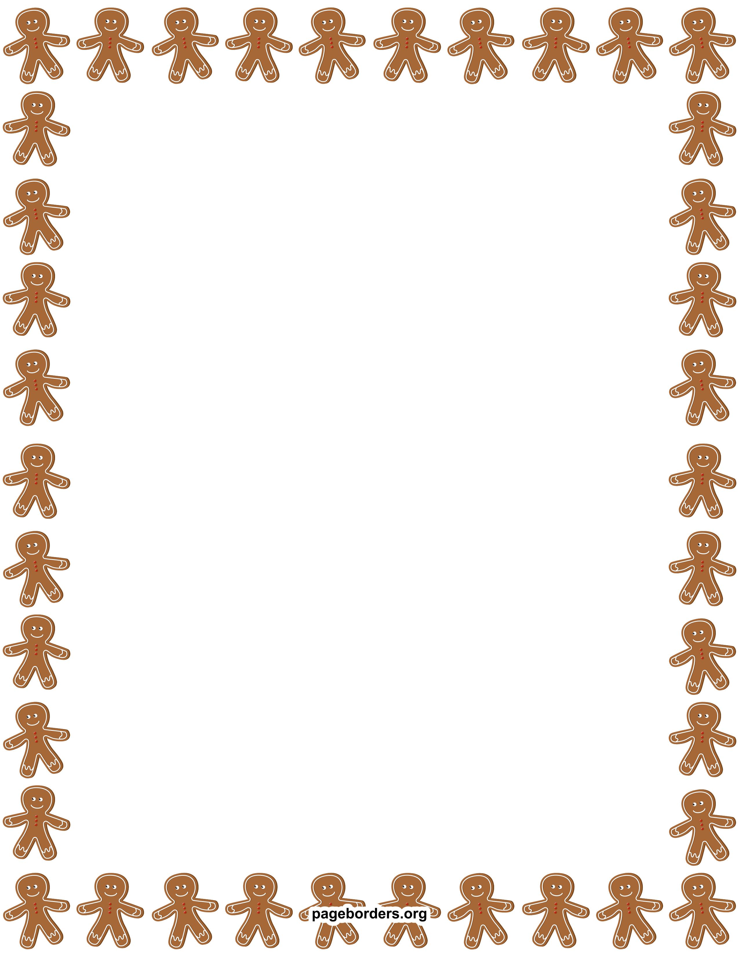 Gingerbread Man Border Clip Art Page Border And Vector Graphics