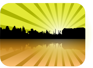 Houses On The Horizon Starburst Clip Art At Clker Com   Vector Clip