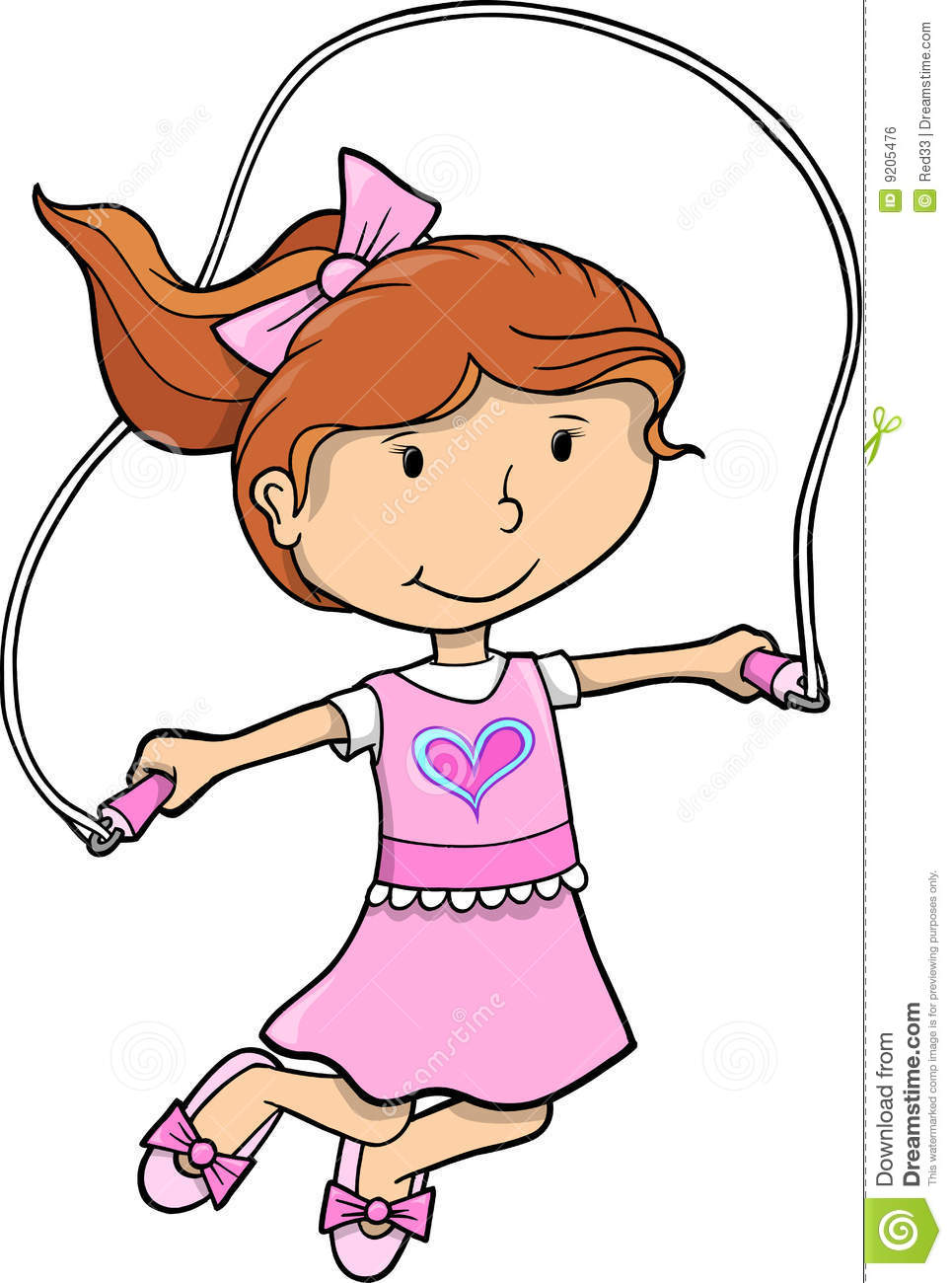 Jump Rope Girl Vector Royalty Free Stock Image   Image  9205476