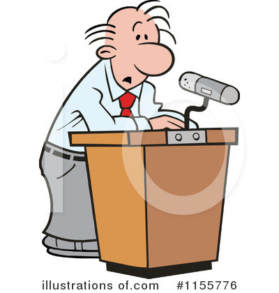 Speaking Clipart  1155776 By Johnny Sajem   Royalty Free  Rf  Stock