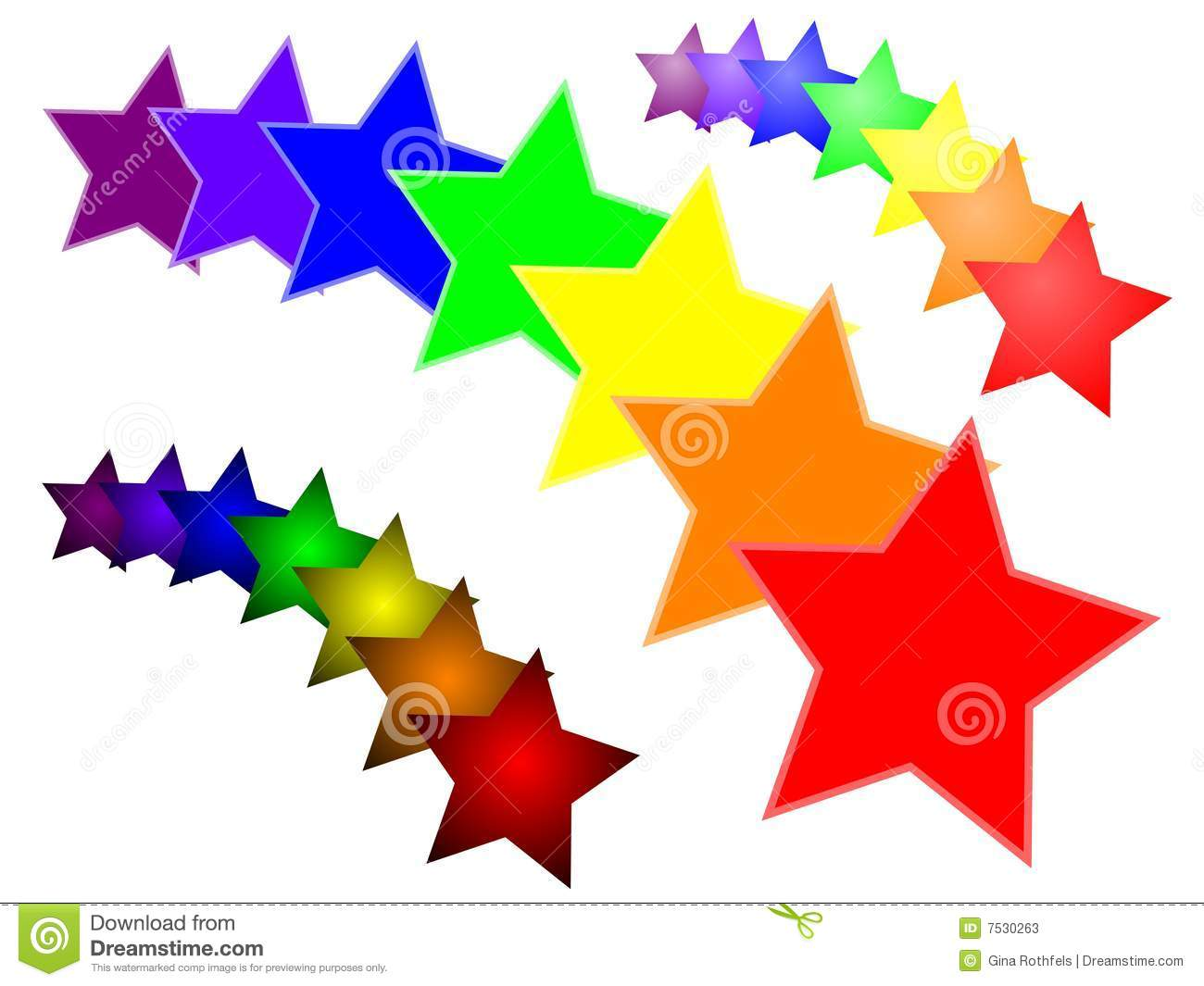 Vector Starburst In Rainbow Colours   Includes Variations With