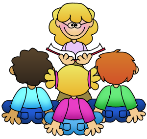 Elementary Students Working In Groups Clipart