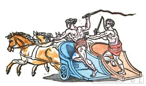 Ancient Rome   Roman Chariot Race   Classroom Clipart