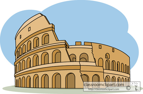 Ancient Rome   Roman Colosseum Italy Wonders World   Classroom Clipart
