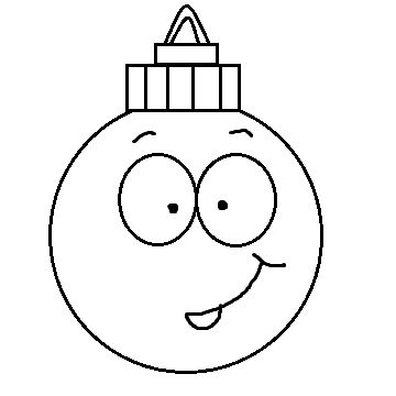 Christmas Ornament Black And White Clipart - Clipart Kid