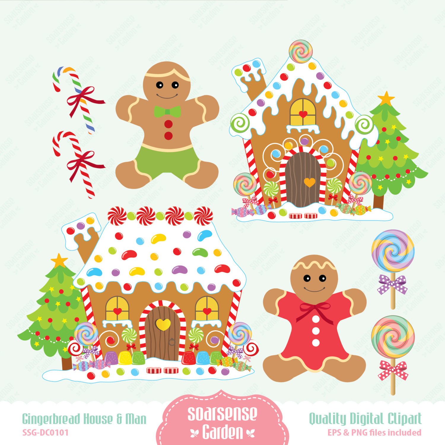 christmas clip art gingerbread house - photo #7