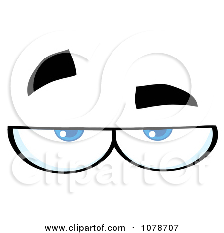 Clipart Pair Skeptical Eyes