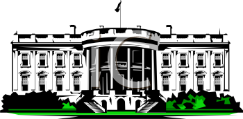 Clipart Picture Of The White House In Washington D C