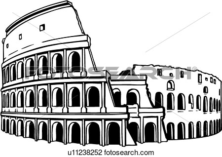 Coliseum Colosseum Rome Italy History View Large Clip Art Graphic