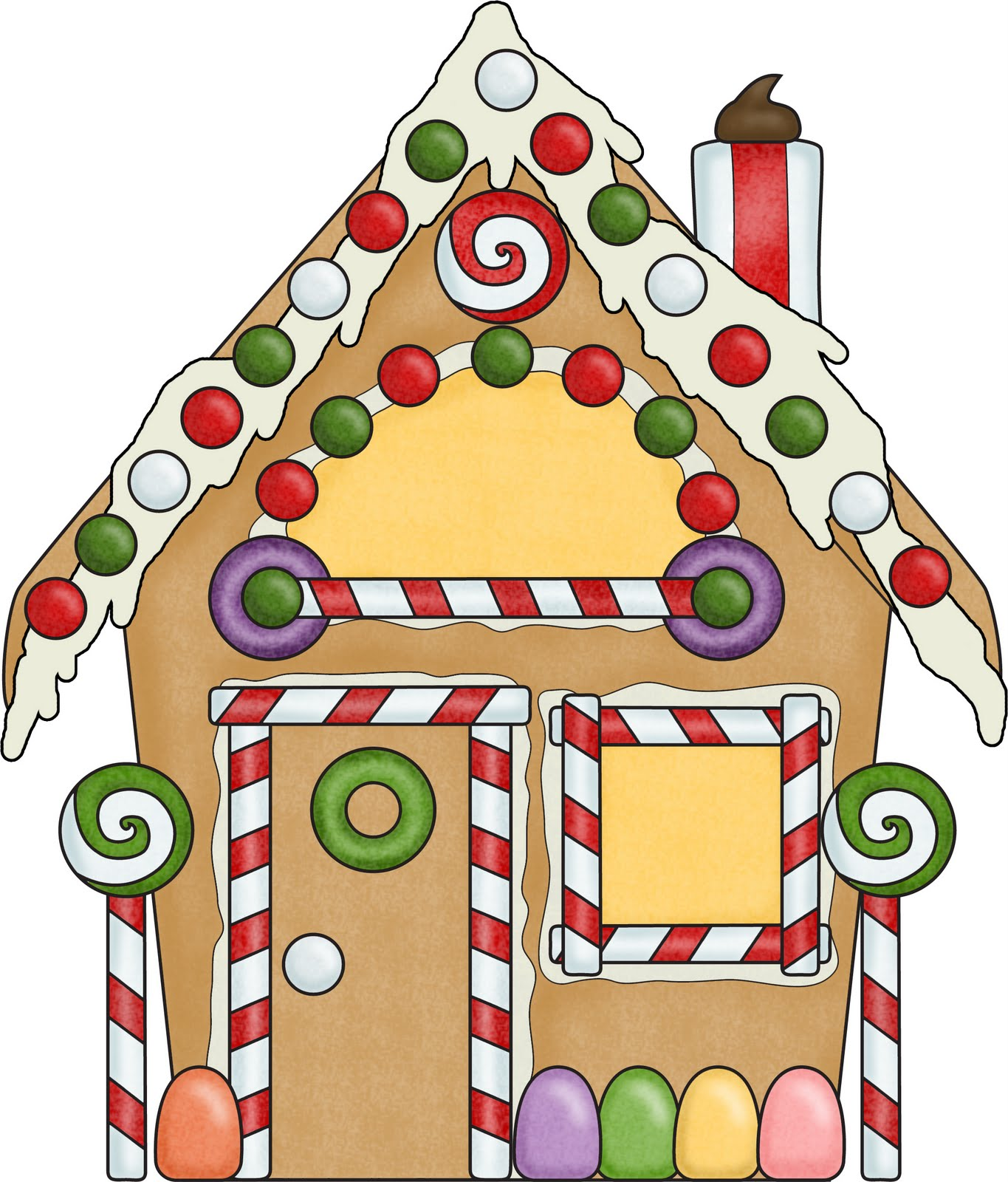 Gingerbread House Clipart - Clipart Kid
