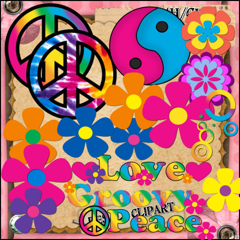 Groovy Sixties 60 S Set Clipart  Digital Download Zip File