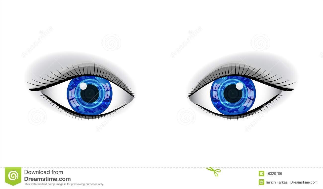 Pair Of Human Blue Eyes  Royalty Free Stock Image   Image  16320706