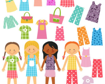 Paper Girl Doll  Instant Digital Do Wnload  Png Pdfgirl Doll Clip Art