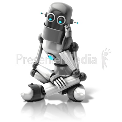 Retro Robot Thinking   Science And Technology   Great Clipart For