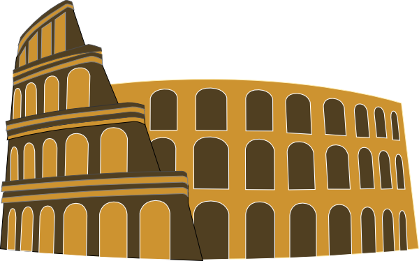 Rome Simplified Brown Gold Clip Art At Clker Com   Vector Clip