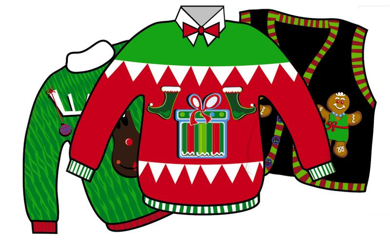 Ugly Christmas Sweater Cartoon   Hvgj