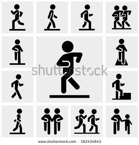Walk Icon Walking Vector Icons Set On