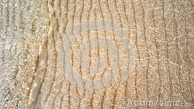 Water Ripple Sand Waves And Sunlight Glare  Sea Floor Background