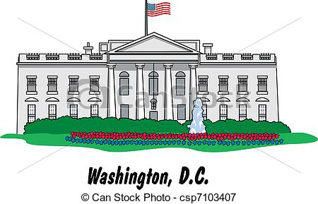 Clip Art White House Clipart white house clipart kid in csp7103407 search illustration drawings