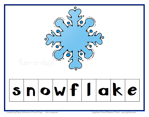 Winter Words Clipart Making Winter Words In