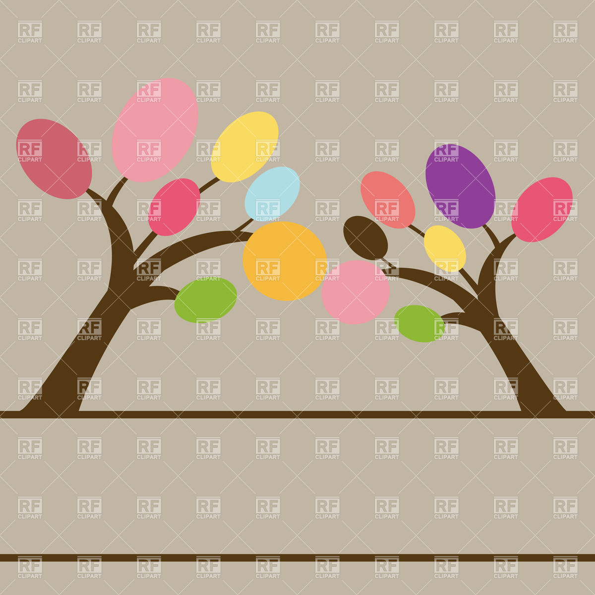 Beautiful Spring Tree Download Royalty Free Vector Clipart  Eps