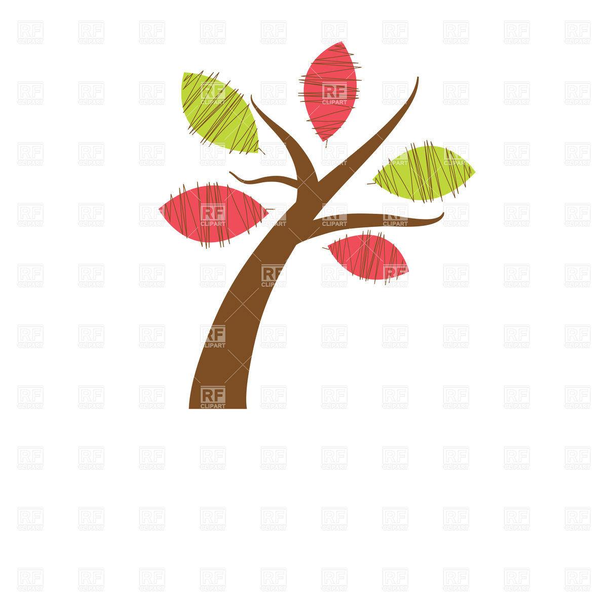 Beautiful Spring Tree On White Background Icons And Emblems Download