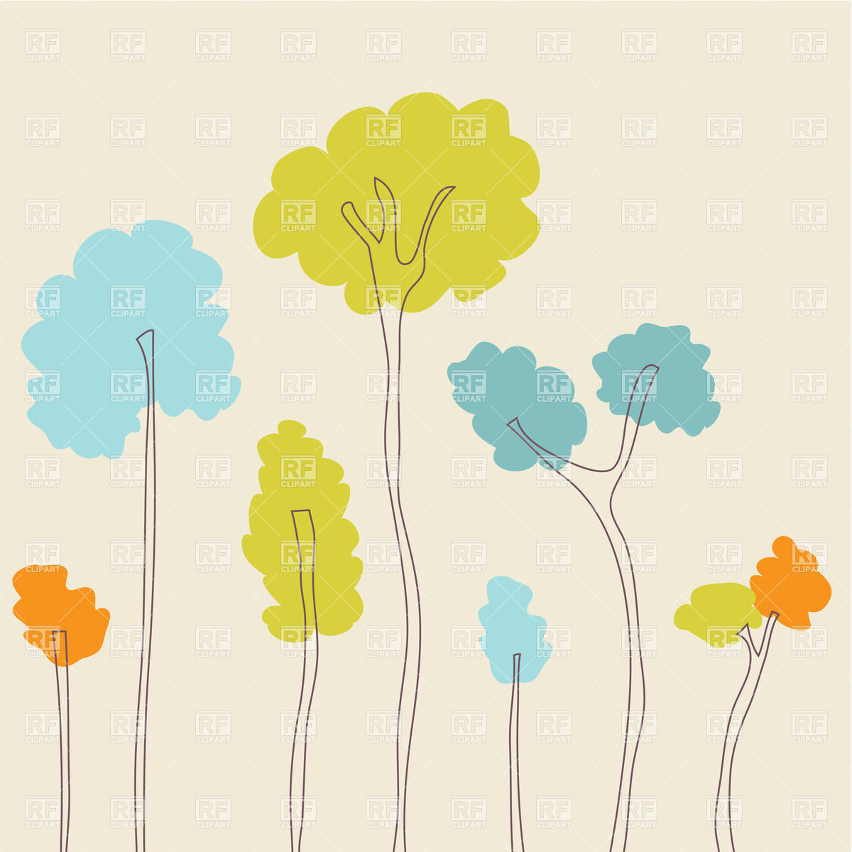 Beautiful Spring Trees Download Royalty Free Vector Clipart  Eps