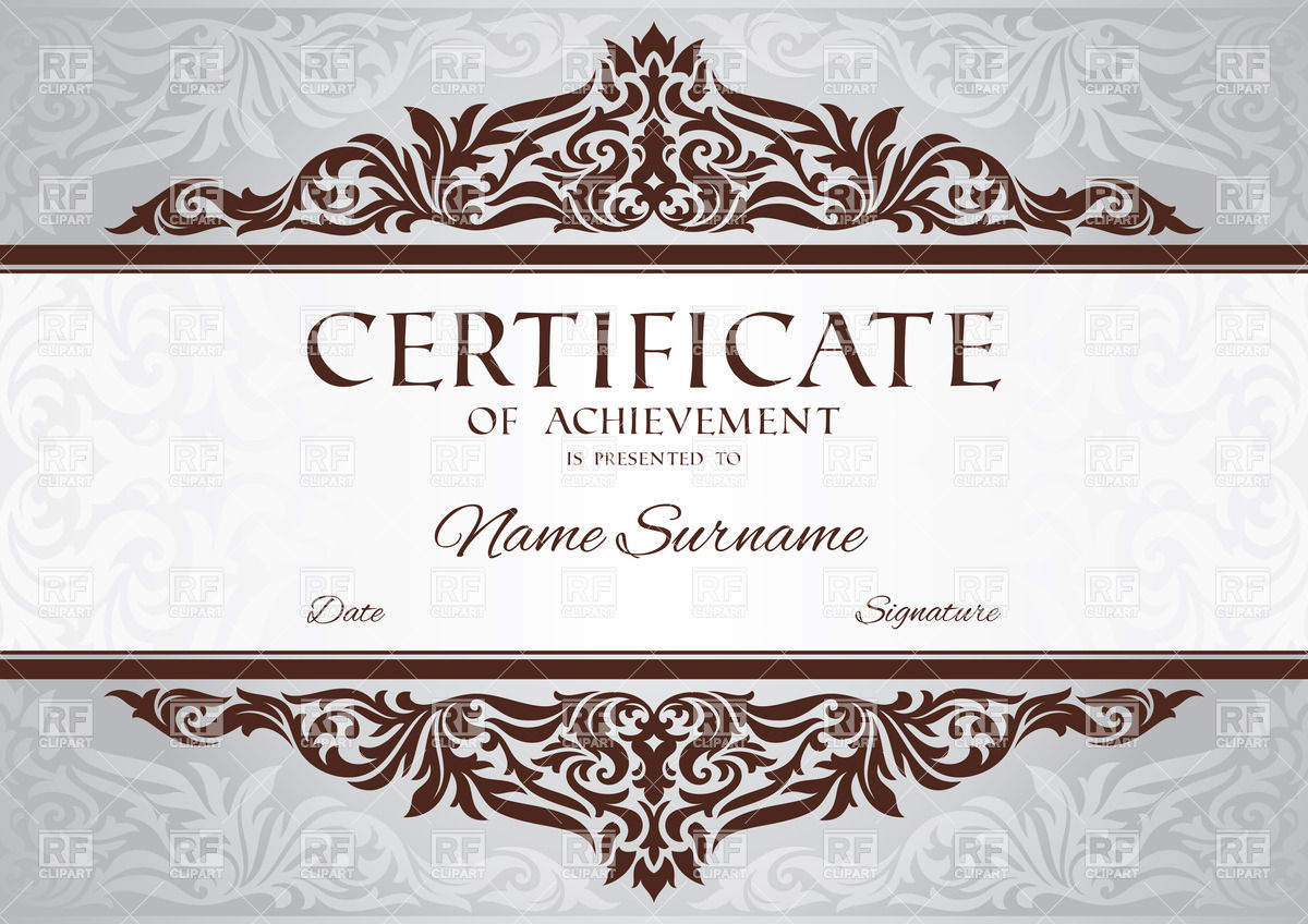 certificate frame template - gift certificate frame clipart clipart suggest