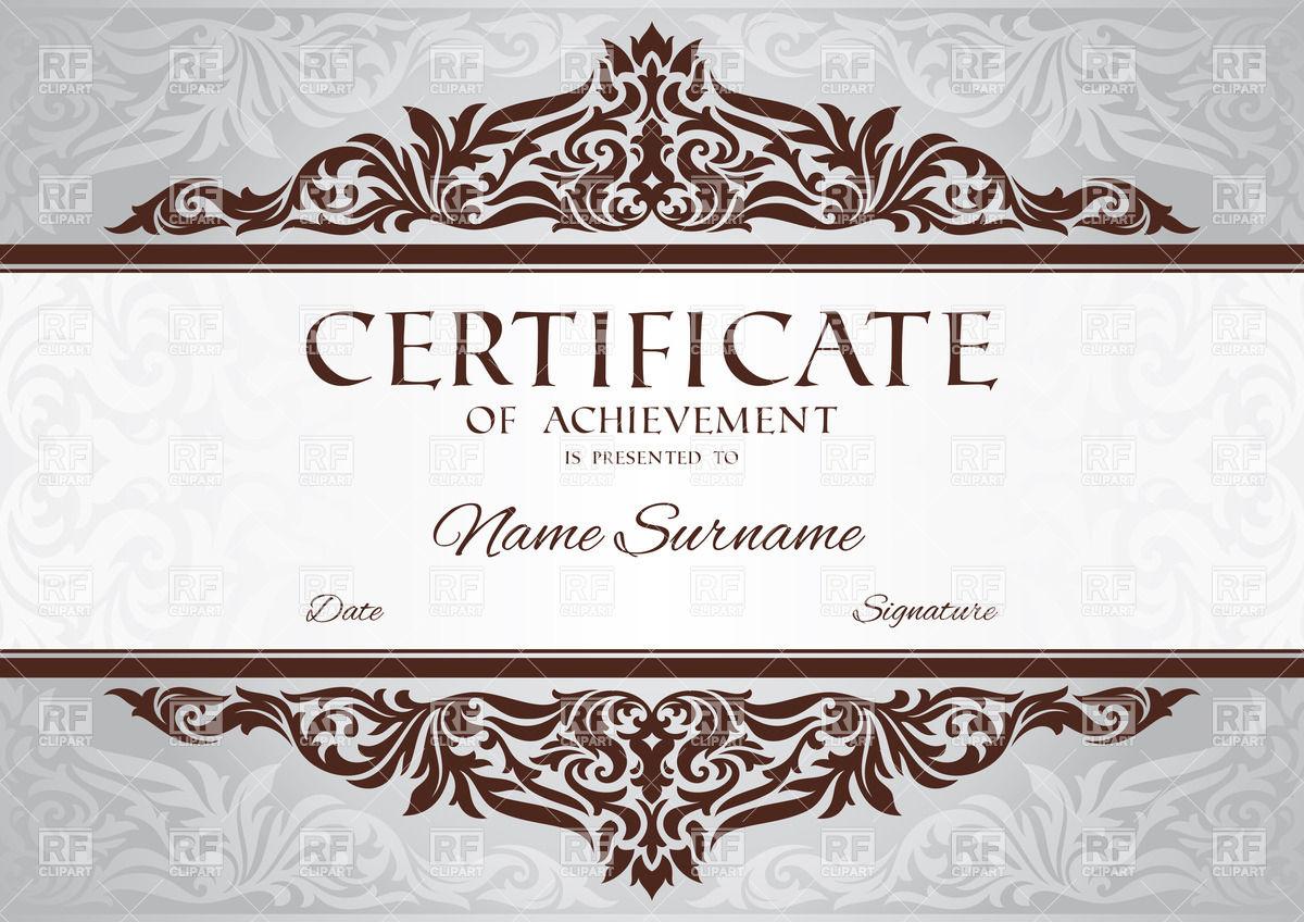 Doc27502125 Certificates of Achievement Templates Free – Certificates of Achievement Templates Free