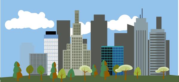 City Skyline Clip Art At Clker Com Vector Clip Art Online Royalty