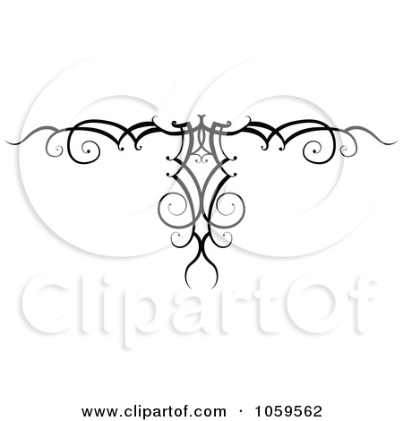 Clip Art Illustration Of A Black And White Swirl Arm Band Tattoo