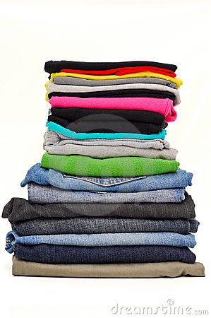 Fold Clothes Clipart Stacked Clothes