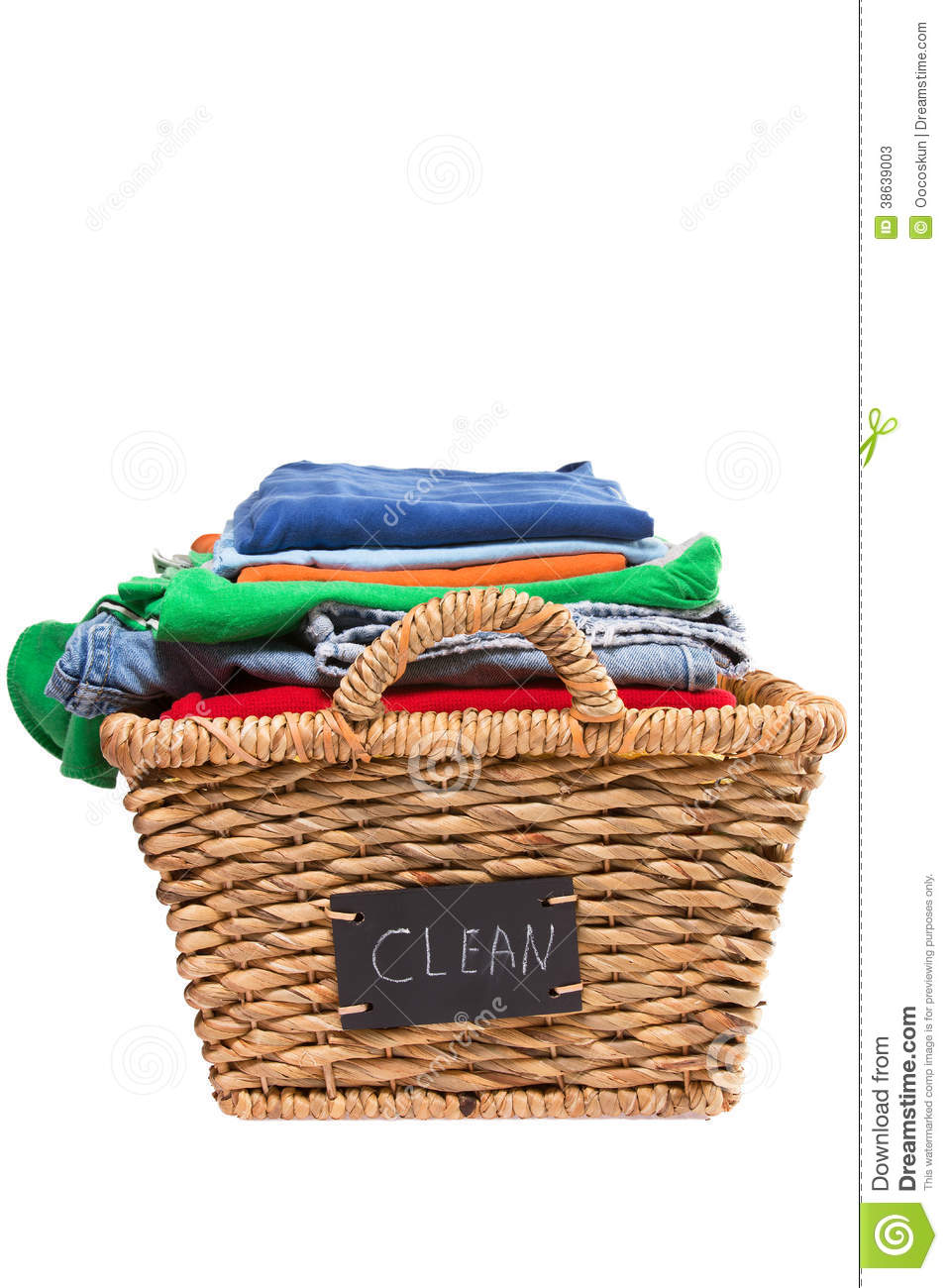 Folded Laundry Basket Clipart Wicker Laundry Basket Filled