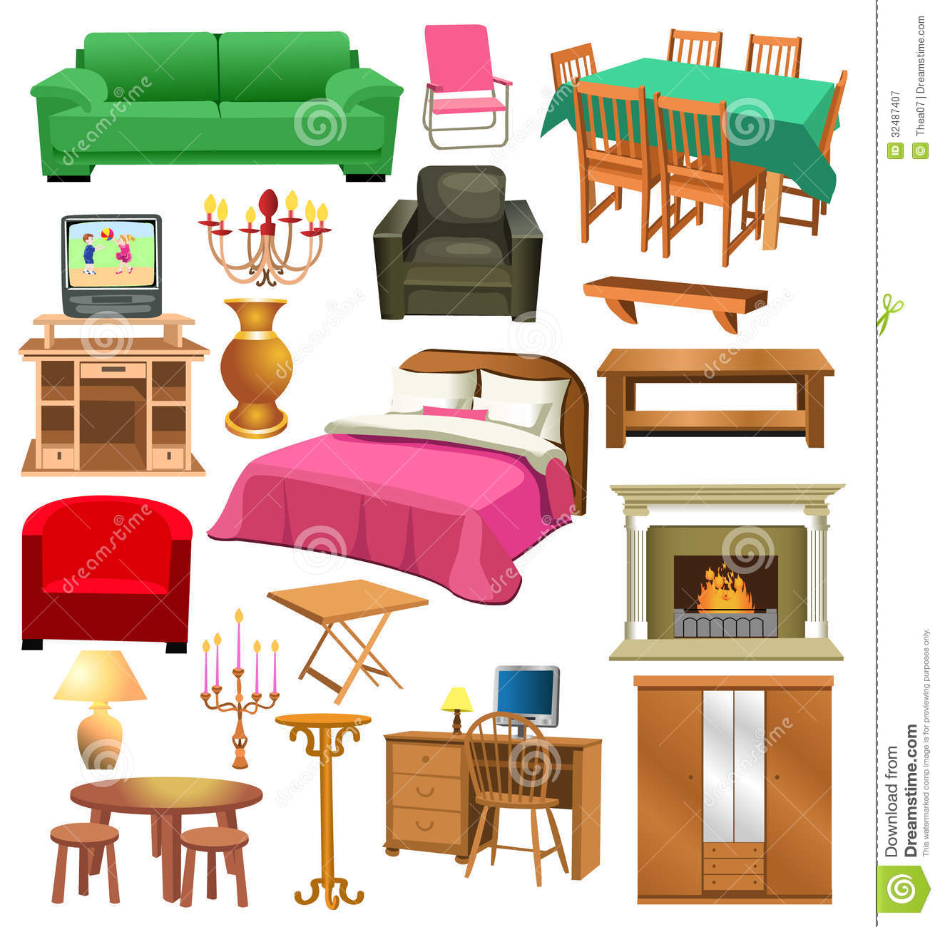 Living Room Clip Art: Living Room Background Clipart