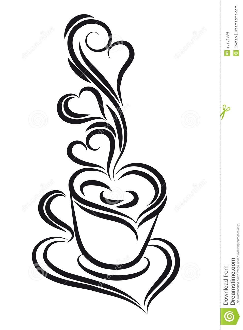 More Similar Stock Images Of   Black And White Coffee Cup Clipart