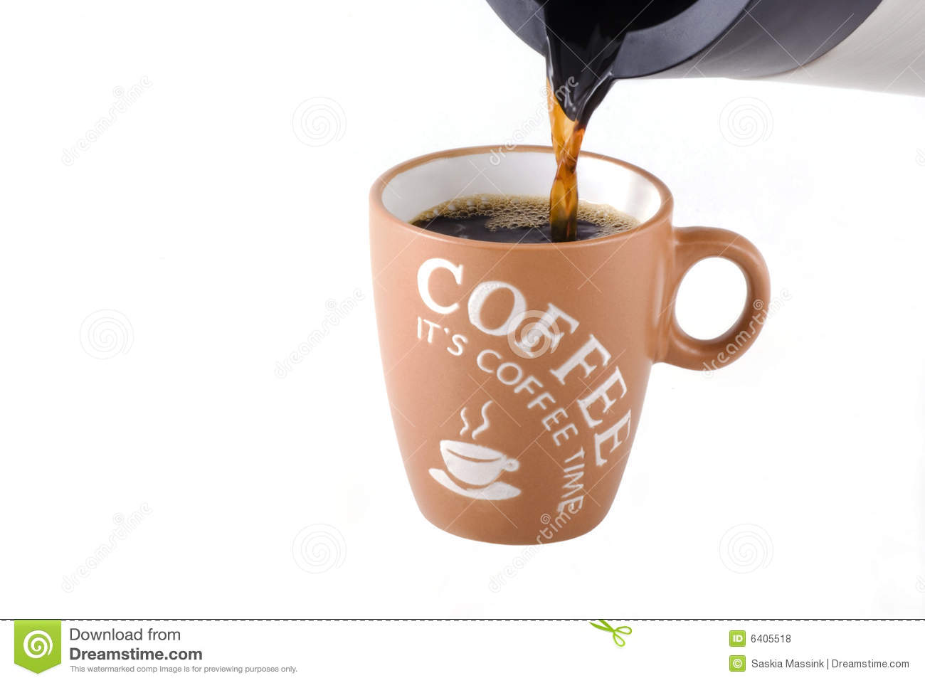 Pouring Coffee  Royalty Free Stock Photos   Image  6405518