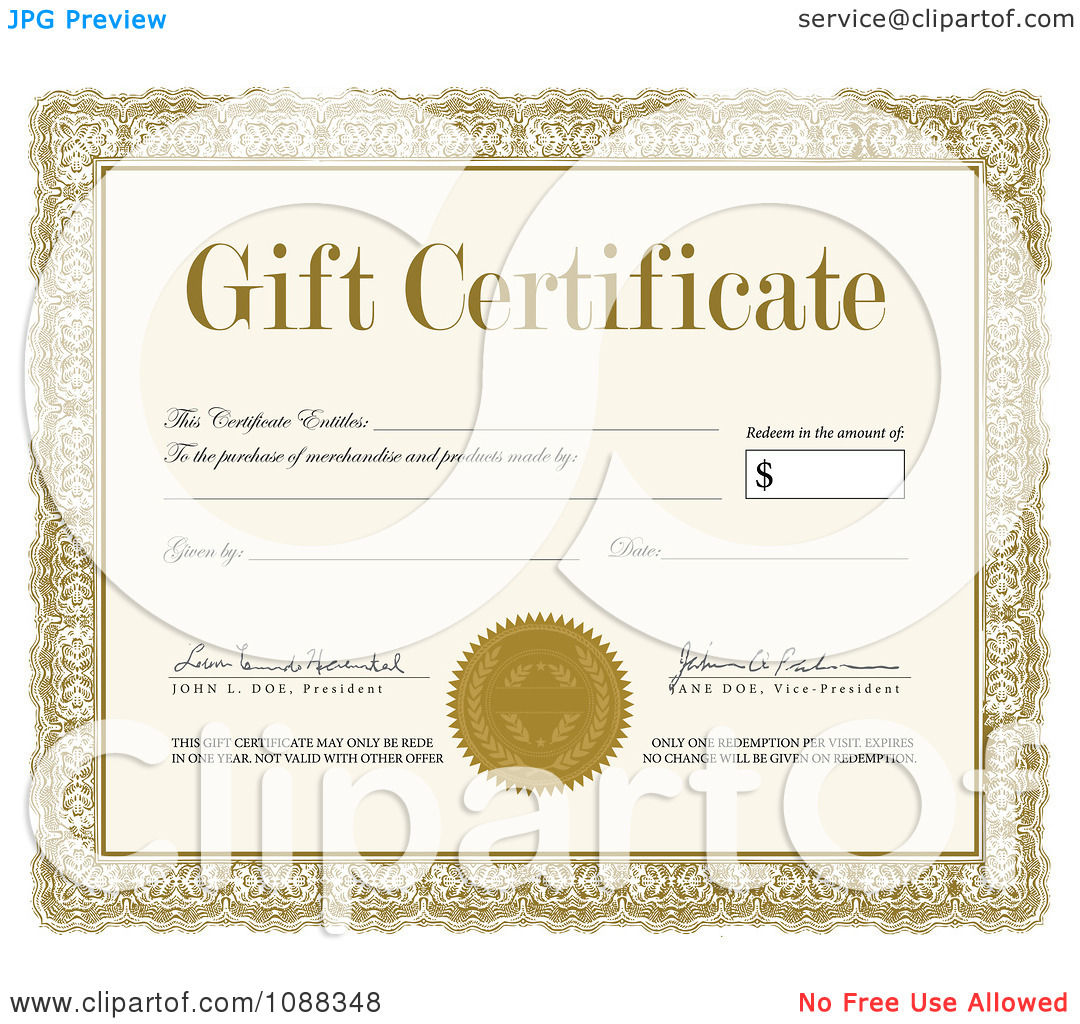 free clipart gift certificate - photo #30